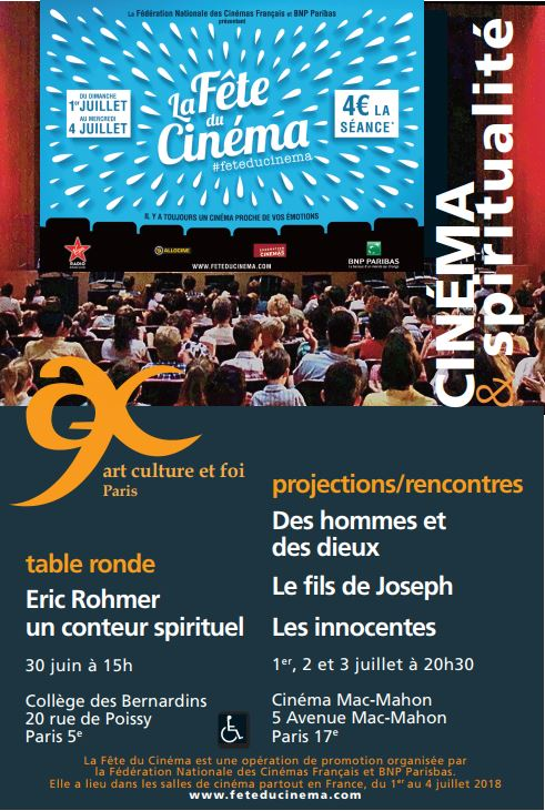 Cinéma et spiritualité à l'occasion de la Fête du Cinéma