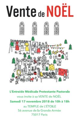 Vente ENTRAIDE MEDICALE PROTESTANTE PASTORALE - Samedi 17 novembre
