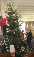 Sapin de Noël au temple de Roquépine