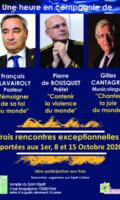 3 Rencontres exceptionnelles REPORTEES au 1er - 8 et 15 octobre
