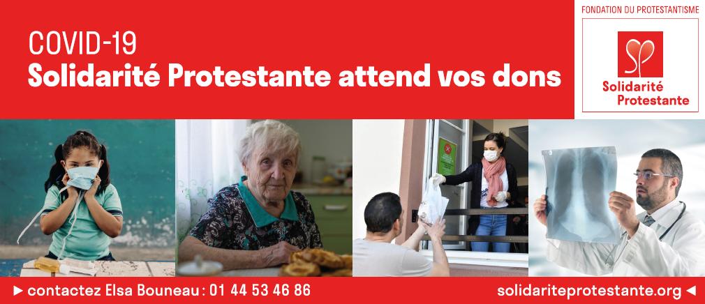 Urgence Covid 19 : Adressez vos dons à Solidarité Protestante