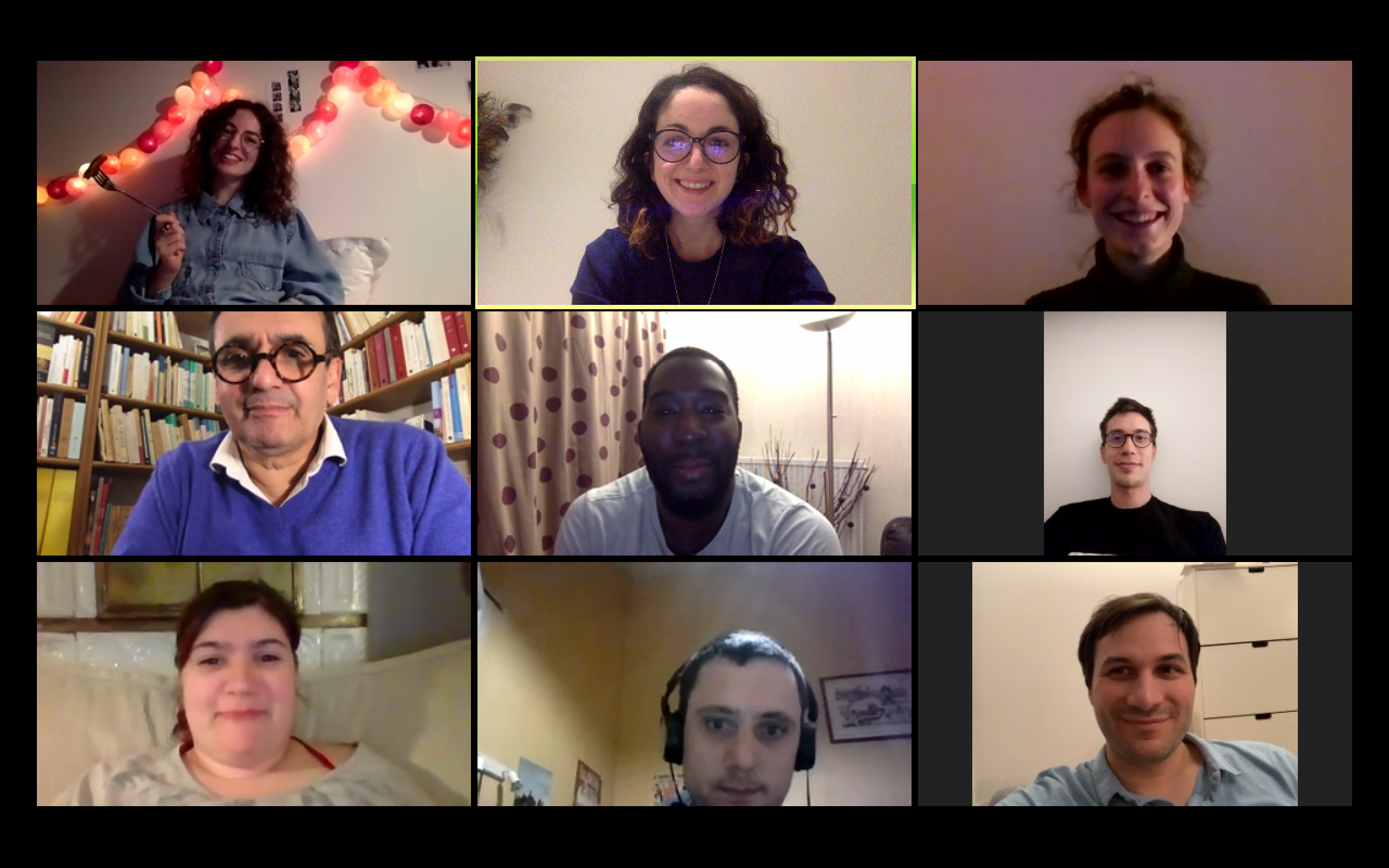 Le groupe des jeunes actifs réuni … via leur webcam !